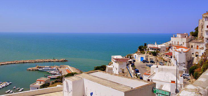 Sea, Costa, Houses, Picturesque, Peschici, Gargano