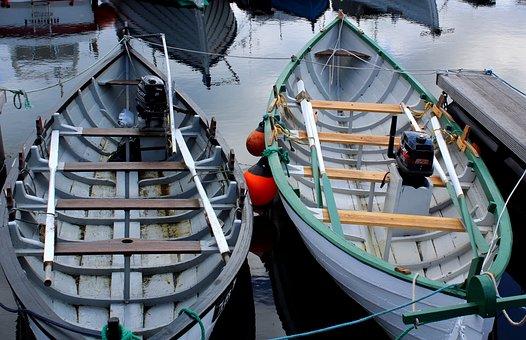 Tórshavn, Wooden Boats, Port, Faroe Islands