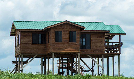 House, Wooden, Building, Fancy, Tropical, Stained