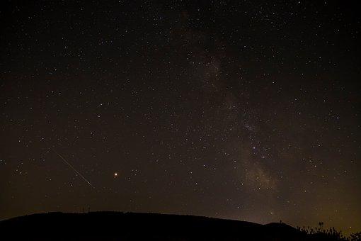 Shooting Star, Starry Sky, Perseids, Night, Night Sky