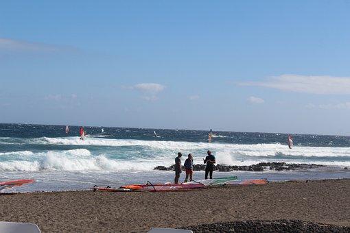 Sea, Tenerife, Surfing, Nature, Water, Holiday, Ocean