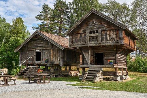 Open Air Museum, Village, Building, Houses