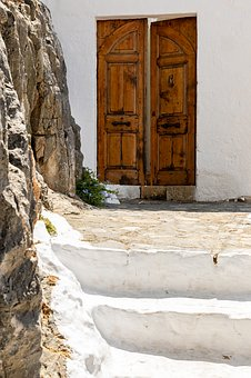 Door, City, Architecture, Building, Wall, House, Street