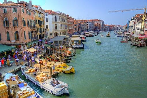 Venice, Rialto, Italy, Water, Venezia, Architecture