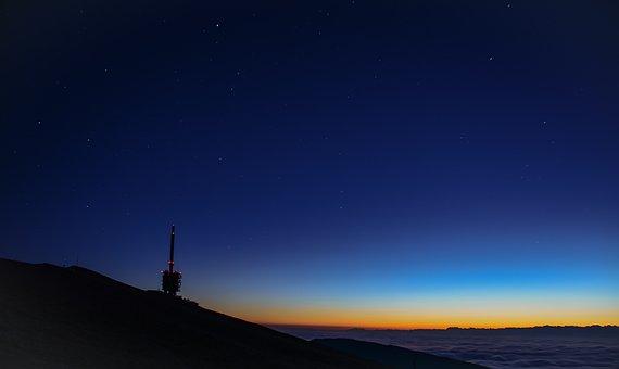 Antenna, Chasseral, Jura, Aurora, Sky, Nature