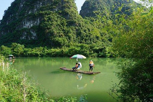 Yulong River, Boat, Bamboo Raft