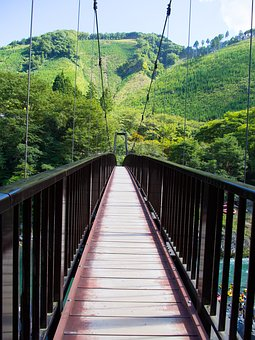 Bridge, Suspension Bridge, Mountain, Architecture