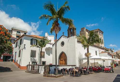 Portugal, Madeira, Funchal, Church, Old Town