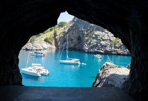 Coast, Sea, Water, Hole, Cave, Nature, Sail, Rock