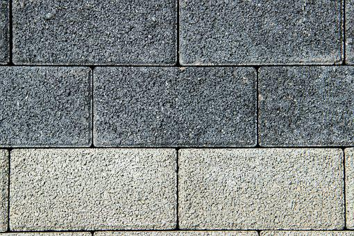 Stones, Grey, Concrete, Square, Background, Pattern