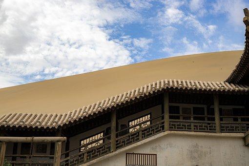 Pavilion, Desert, Dry, Camel, Caravan, Travel, Sand