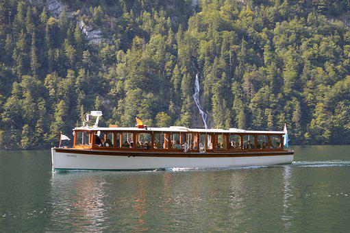 Königssee, Electric Boat, Water