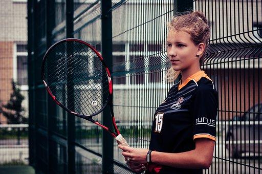 Girl, Sports, Tennis, Woman, Model, Hair, Girls
