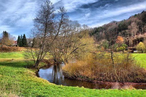 Hdr, Green, Nature, Landscape, Scenic, Forest, River