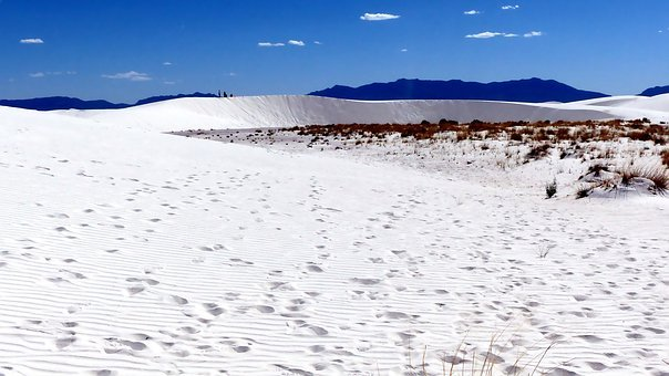 Desert, Dunes, Sand, Gypsum, Nature, Usa, Landscape