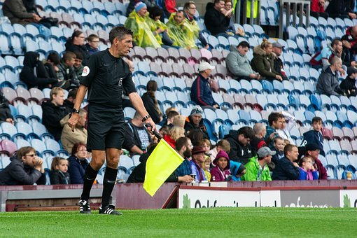 Linesman, Official, Liner, Flag, Soccer, Football