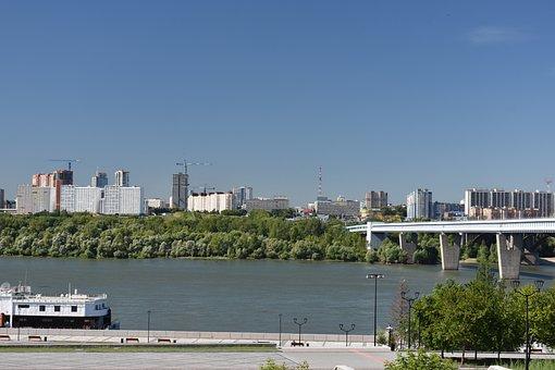 Novosibirsk, Quay, Russia, Construction, Bridge