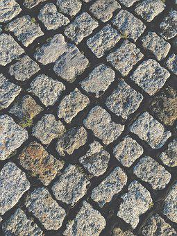 Paving Stones, Away, Weed, Summer, Sun, Stone, Sidewalk