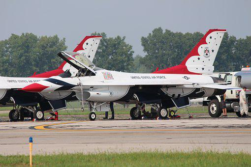 F-16, Thunderbirds, Jet Fighter, Airforce