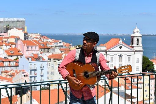 Alfama, Lisbon, Portugal, Europe, Travel, Sea, View
