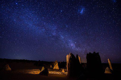 Pinnacles, Astro-photography, Stars