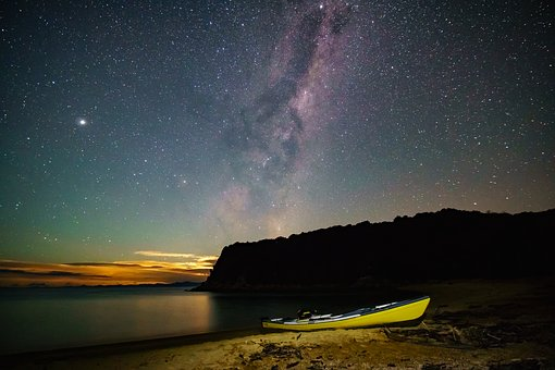 Abel Tasman, Bay, Milky Way, Scenic, Landscape, Ocean