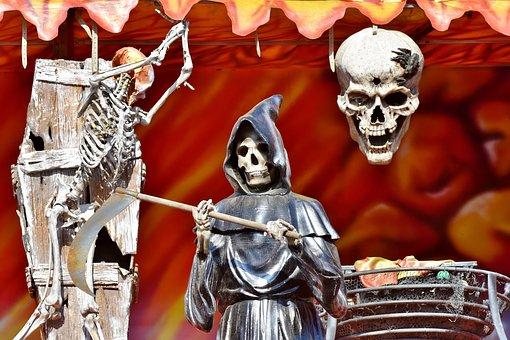 Skeleton, Bone, Skull, Head, Ghost Train, Folk Festival