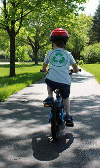 Cycling, Child On Bike, Recycle, Three Years Old