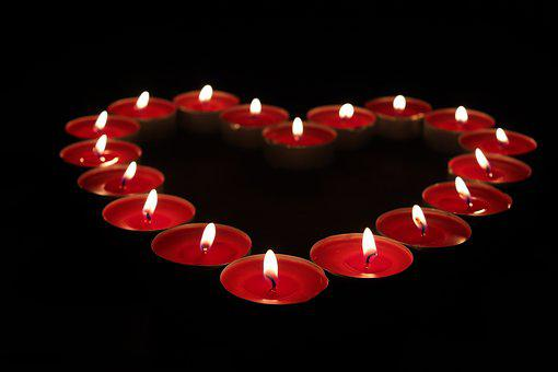 Heart, Candle, Love, Romantic, Light, Flame, Tealight