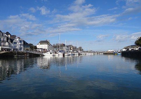Harbor, Boats, Water Reflexion