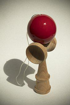 Kendama, Play, Skill, Toys, Japanese, Ball, Red, Sword