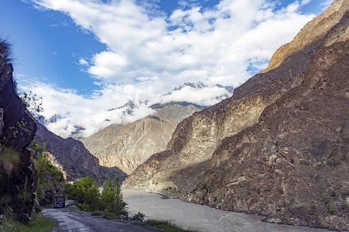 Gilgit, Skardu, Road, Mighty, Indus, Himalayan