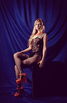 Erotica, Net, Heels, Stockings, Woman, Naked