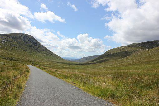Mountains, Ireland, Road, Road In The Green, Summer