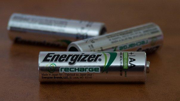 Batteries, Rechargeable, Energizer, Silver, Double A
