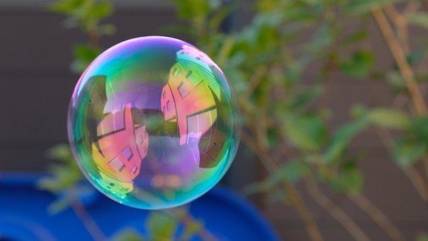 Soap Bubble, Mirroring, Soap Bubbles, Float, Summer