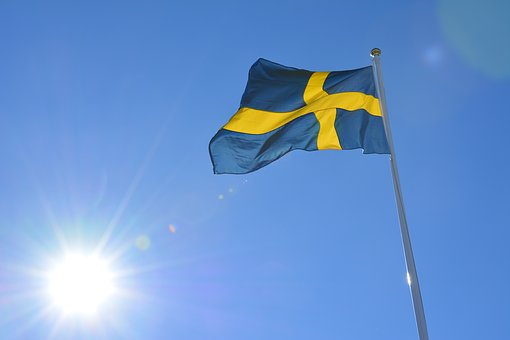 Flag, Sweden, Swedish Flag, Solar, Wind, Background