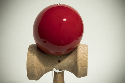 Kendama, Play, Skill, Toys, Japanese, Ball, Red, Sword