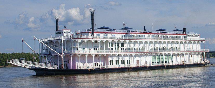 Riverboat, Paddle Wheel, River, Boat, Steamer, Water