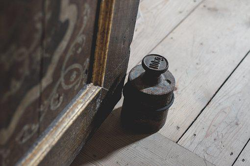 Weight, Doorstop, Kilo, Kg, Door, Old, Wood, Wood Floor