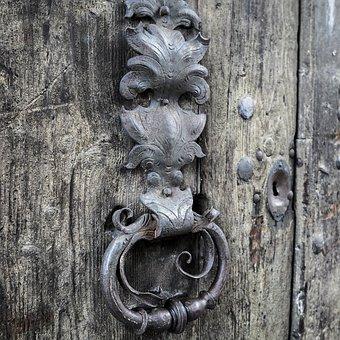 Doorknocker, Door Handle, Handle, Antique, Metal Handle