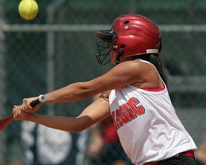 Softball, Batter, Girl, Game, Competition, Teen, Ball
