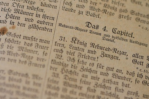 Bible, Old, Luther, Book, Antiquarian, Christianity