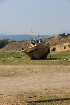 Barge, Baikal, Summer, Sun, Boat, Sand, Decrepitude