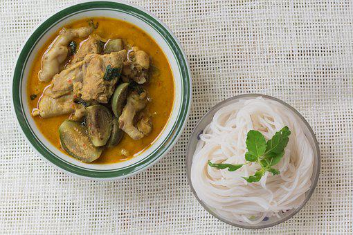 Curry, Green Curry, Chicken, Eggplant, Food, Vegetable