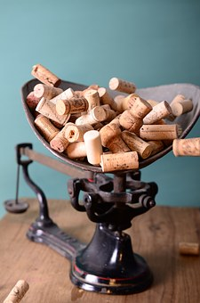 Corks, Stoppers, Scale, Weight, Vintage, Wine Corks