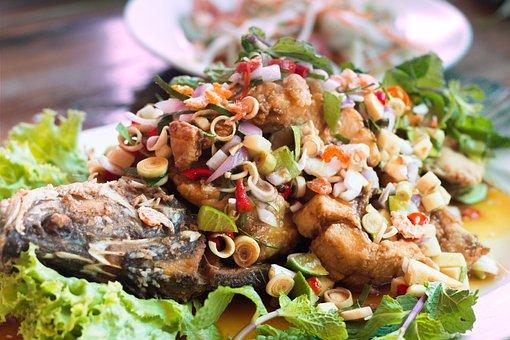 Fish, Food, Fry, Lemon, Delicious, Healthy, Seafood