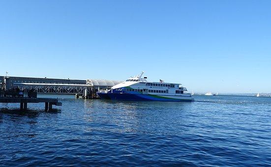 Cruise Liner, Ship, Terminal, Pier, Ferry Building
