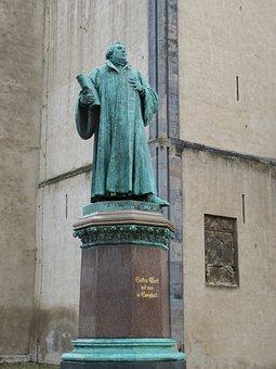 Luther, Sculpture, Figure, Magdeburg, Saxony-anhalt