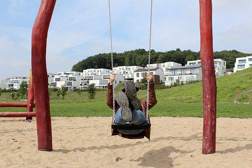 Playground, Rock, Swing Device, Play, Fun, Out